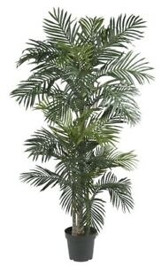 Image Is Loading Indoor Tropical Plant Large Realistic Artificial Palm Tree