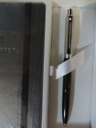 SHEAFFER Tuxedo Ballpoint Pen White Dot with SHEAFFER Leather Jotter
