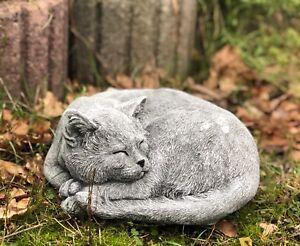 sculpture en pierre kater carlos fonte r sistant au gel aux intemp ries chats ebay. Black Bedroom Furniture Sets. Home Design Ideas