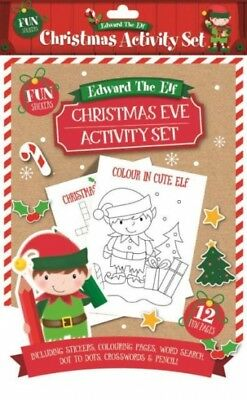 Christmas Eve Activities.Christmas Eve Elf Activity Pack Stickers Word Search Puzzles Colouring Xmas Gift 5033601604877 Ebay