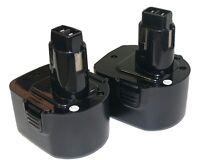 2x Battery For Black And Decker Ps130 Firestorm 12v B&d Fits Ps160 1300mah