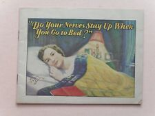 Vintage Booklet w/ Ads for Dr. Mile's Nervine Liquid & Tablets - ca. Early 1900s