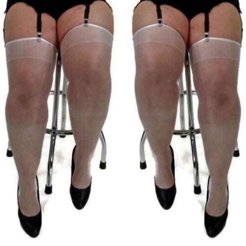 classic stockings plus size 3XL 4XL UK 16-20 EU 46-50 for garter belt colours
