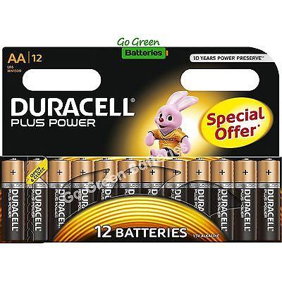 12x Duracell AA Plus Power Alkaline Batteries Duralock LR6 MN1500 MIGNON 2027exp