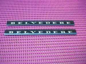 1966-1967-MOPAR-PLYMOUTH-BELVEDERE-II-2-Emblem-Nameplate-Inserts-PAIR