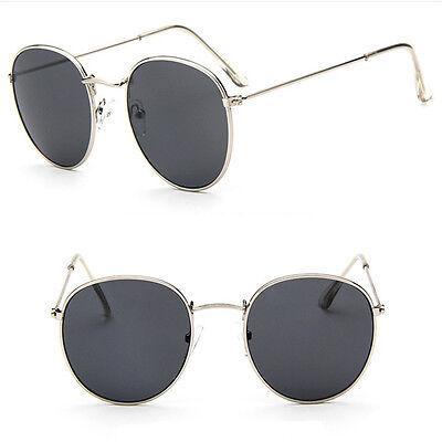Men Women's Fashion Mirror Glasses Vintage Retro Oversized Round Sunglasses FS