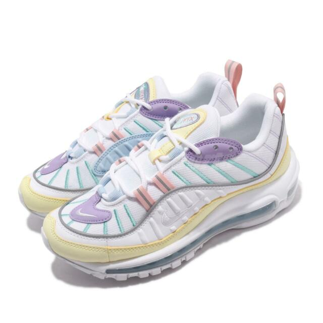 Nike Wmns Air Max 98 Easter Green White Violet Womens Running Shoes AH6799 300