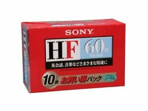 X10-SONY-Japan-Blank-Music-Audio-Cassette-Tape-60min-10C-60HFB-JAPAN-OFFICIAL
