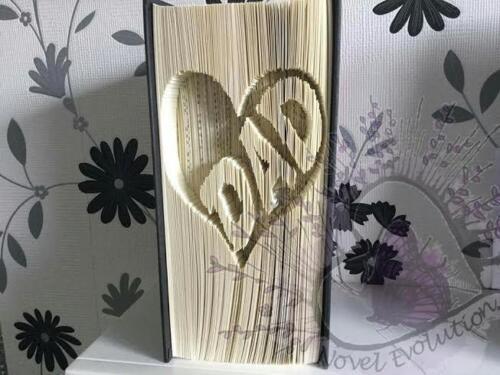 Cortar y doblar Libro Plegable Patrón Papá en un corazón. #1507 664 páginas
