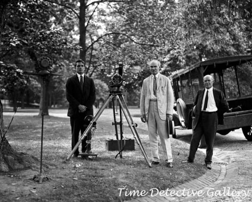 1924 on the White House Grounds Photo Print DeForest Phonofilm Co Wash DC