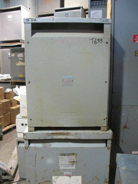 Westinghouse 75 KVA 3 Phase 480 X 120/208 Volt Transformer - T633
