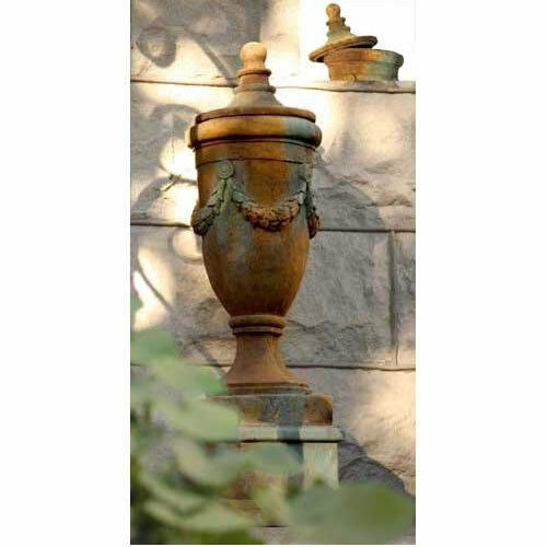 Jardín exterior Remate de San Marino Con lid-urn por Orlandi estatuaria-fs34052