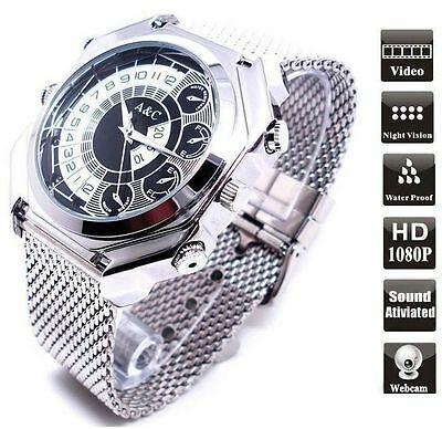 Waterproof 16GB Full HD1080P IR NIGHT VISION Spy Camera DVR IN WRIST WATCH W9