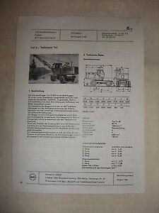 GéNéReuse Rda Publicité Publicité Prospectus Feuille De Données Excavateurs Mobile Excavateurs E 302 Urss 1968-afficher Le Titre D'origine
