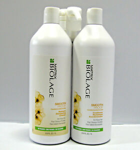 Biolage-Smooth-Proof-Shampoo-amp-Conditioner-33-8-oz-Liter-Duo-Set-w-PUMPS-Matrix