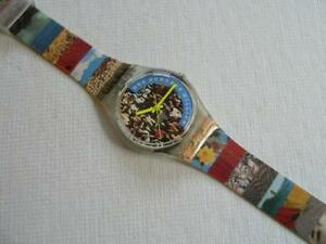 Swatch-Watch-039-The-People-039-Swiss-Made-Wristwatch-1992-GZ126
