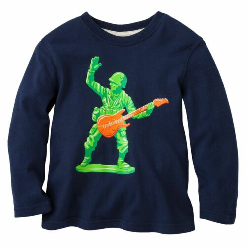 Jumping Beans Tee 3T 4T Toy Soldier Long Sleeve Cotton Toddler Blue New