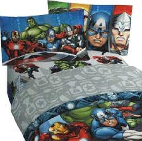 New Marvel Avengers Full Taille Bed Sheet Set 4 Pièces Super-héros literie