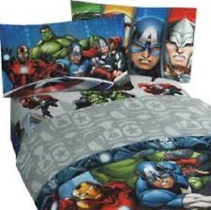 New Marvel Avengers Full Size Bed Sheet Set 4 Piece Superhero