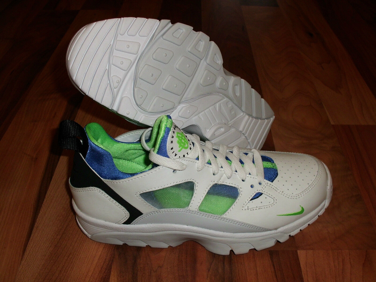 Nike Men's Air Trainer Huarache Low SCREAM GREEN/WHITE/BLUE Price reduction