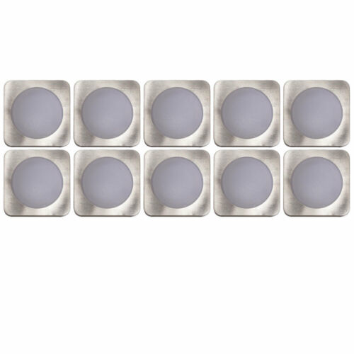 10x LED Einbau Decken Strahler eckig Arbeits Zimmer Küchen Leuchten Spot Lampen