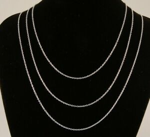 16-034-to-24-034-Silver-Plated-Fine-Curb-Chain-1mm-Mens-Womens-Necklace-40-to-60-cm