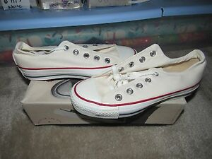 12fdd593b2c7f3 NIB VINTAGE CONVERSE ALL STAR OPTICAL WHITE CHUCK TAYLOR MADE IN USA ...