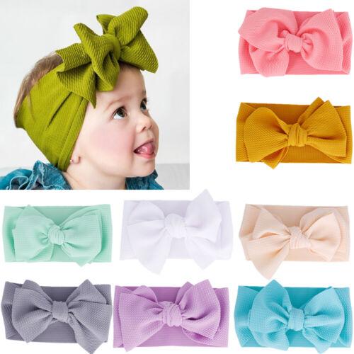 Over Sized Turban Girl Big Bow Headwrap Headwear Baby Headband Hair Band