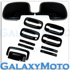 00-06 GMC Yukon+XL Gloss Black Mirror+4 Door handle+no PSG KH+Tailgate Cover SUV