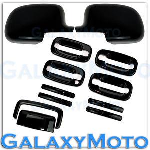 00-06-GMC-Yukon-XL-Gloss-Black-Mirror-4-Door-handle-no-PSG-KH-Tailgate-Cover-SUV