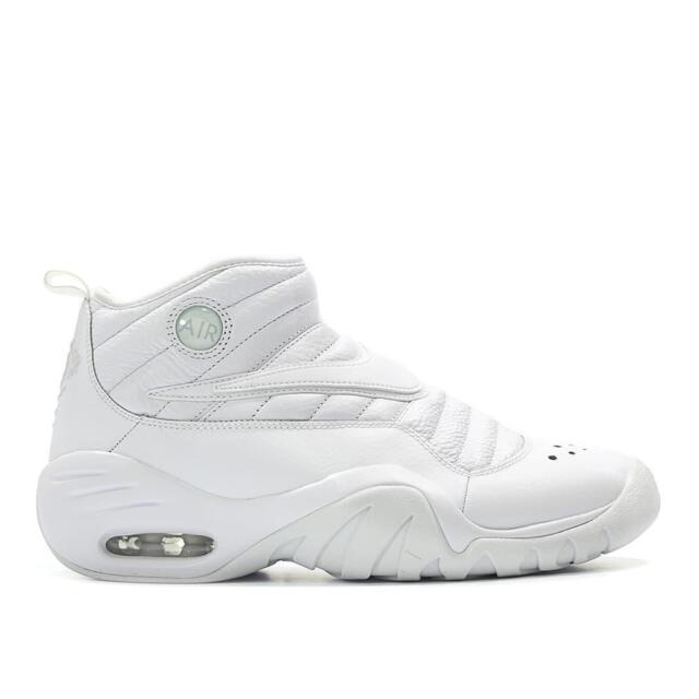 21721b622a8 Nike Air Shake Ndestrukt Dennis Rodman Triple White Men Basketball ...