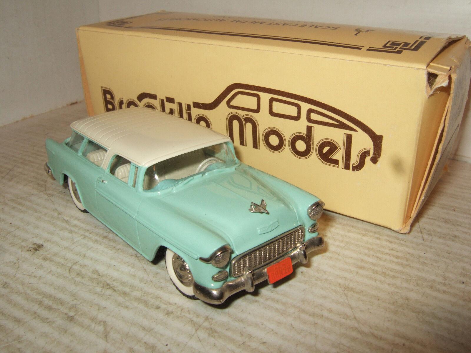 comprar mejor Metal blancoo blancoo blancoo Brooklin modelos, BRK 26 1955 Chevrolet Nomad en escala 1 43.  80% de descuento