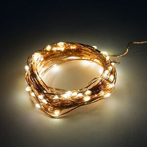 LED Fairy Lights- 16.5 Foot Battery Operated Waterproof with 50 Micro LED Lights