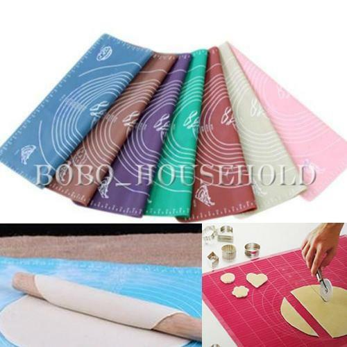 50x40 Big Silicone Rolling Cutting Mat Sugarcraft Cake Fondant Clay Pastry Icing