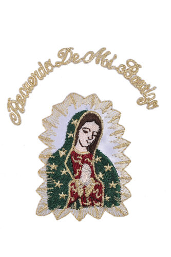 Christening Baptism My Lady of Guadalupe Virgin Mary Embroidered Iron On Patch