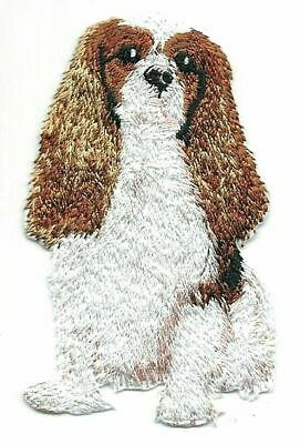"""2 1//4/"""" x 3/"""" Cavalier King Charles Spaniel Dog Breed Embroidery Patch"""