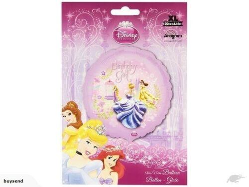 10 x Papel de Aluminio Globos De Cumpleaños De Princesas De Disney 18ins//45cm-embalado plana