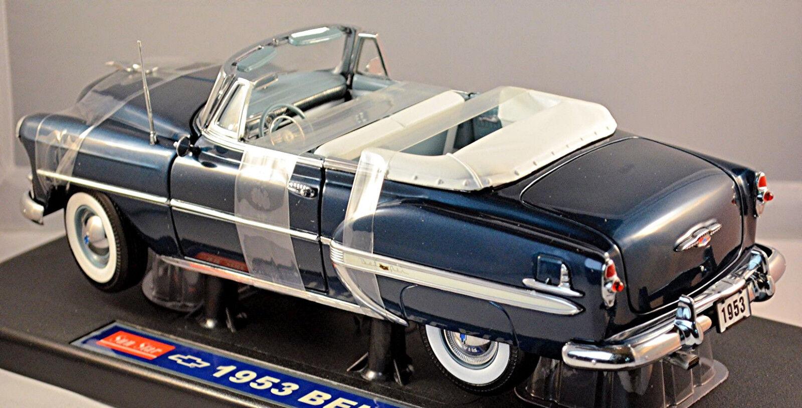 CHEVROLET Bel Air 2400c Cabriolet 1953 BLU blu STAR METALLIC 1 18 SUN STAR blu 90d205