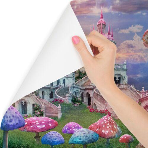 VLIES FOTOTAPETE Selbstklebende TAPETEN XXL Mädchen rosafarbenes Schloss 3D 2835