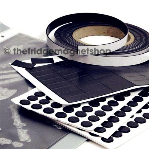 Self Adhésif aimants-choisissez vos formes et tailles-Collants Craft magnétique rond