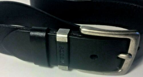 Fossil Mens Jay Belt Black Leather Casual Size 42 44 NWT MB1361 Vintage Style