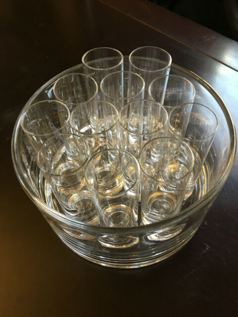 Krosno Cordial Glasses set of 12 with Glass Base/Holder