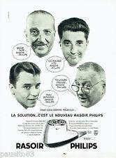 PUBLICITE ADVERTISING 125  1959  Le dernier né rasoir éléctrique PHILIPS