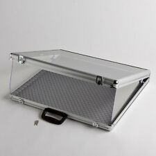 Small Portable Aluminum & Glass Counter Top Locking Jewelry Display Case Handle