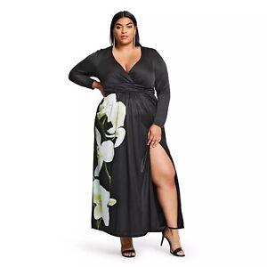 Details about ALTUZARRA for Target Women\'s Floral Print V-Neck Maxi Dress -  Plus Size 1X