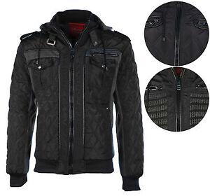 Maximos Men's Envy Hooded Full Zip Bomber Jacket