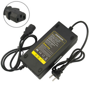 48V 2.5A 3Port Plug Battery Charger For Electric Scooter Motorbike Bicycle Ebike