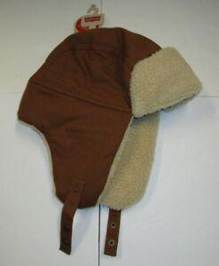 4d3346b5e928c Nwt Mens Levis Light Brown Sherpa Fur Trapper Hat Cap S M Small ...