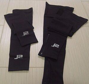 J2-Velosport-Arm-amp-Leg-Warmers-Set-Sizes-M-or-L-Road-Cycling-Cross-MTB