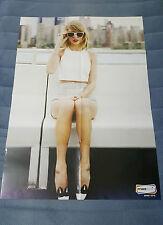 "Taylor Swift + Demi Lovato 2016 - HUGE Israeli Hebrew Poster 25"" x 35"" *RARE*"
